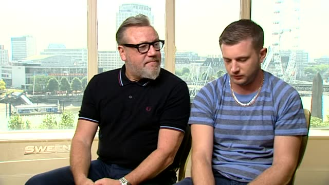 """""""the sweeney"""" interviews; england: london: int ray winstone (actor and ben drew interview sot damien lewis and hayley atwell interview sot - 俳優 ダミアン・ルイス点の映像素材/bロール"""