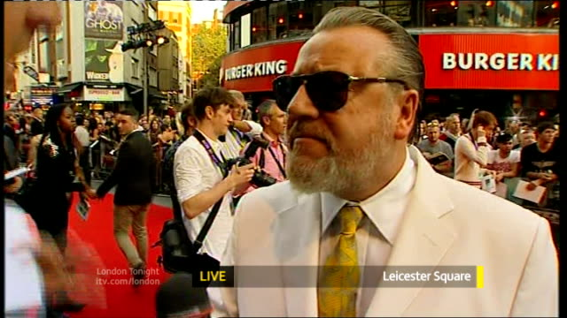 the sweeney london premiere england london leicester square ext ray winstone live interview from the premiere sot said yes five years ago then... - ray winstone stock videos & royalty-free footage