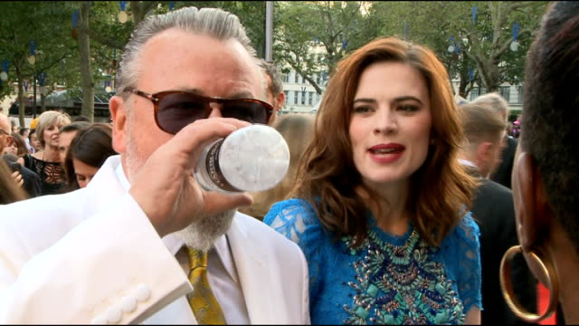 'The Sweeney' London premiere Ray Winstone chatting to press Ray Winstone interview SOT Hayley Atwell interview SOT Atwell chatting on red carpet /...