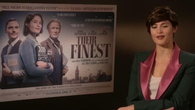 'Their Finest' Films 'Their Finest' Gemma Arterton interview SOT