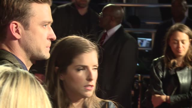 'Trolls' Special event at the London Eye Various of Kendrick and Timberlake meeting the media Anna Kendrick and Justin Timberlake interview SOT...