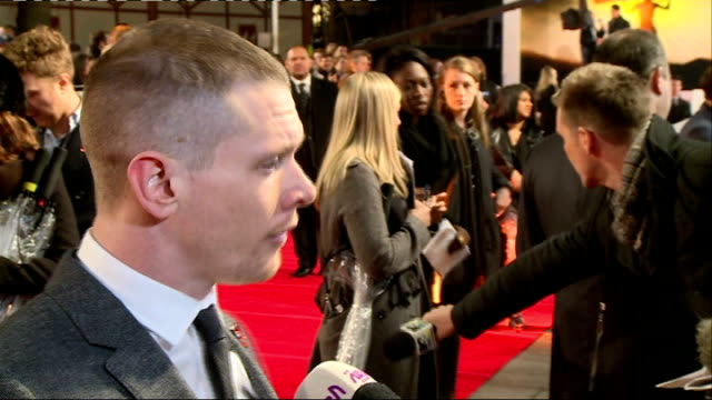 'Unbroken' premiere Red carpet arrivals and interviews O'Connell being interviewed on red carpet / O'Connell interview SOT on how Angelina helped him...