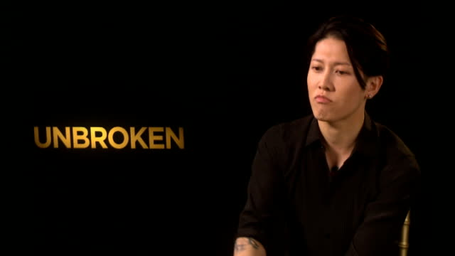 'Unbroken' premiere Takamasa Ishihara interview ENGLAND London INT Miyavi interview SOT on challenge of playing role controversial in Japan / on...