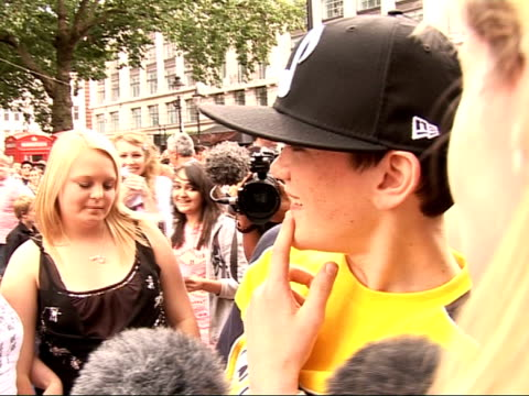 WallE premiere in Leicester Square Arrivals and interviews Actress Sigourney Weaver speaking to media George Sampson interview SOT Talks of what life...