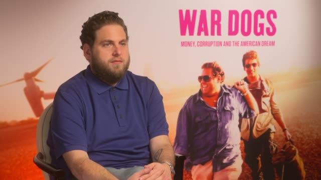 'War Dogs' Jonah Hill interview ENGLAND London INT Jonah Hill interview on the release of his new film 'War Dogs' SOT
