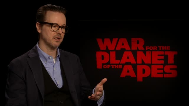 'war for the planet of the apes': junket interviews; matt reeves interview sot -on how exciting it is working with motion capture -on jane goodall... - working animal stock videos & royalty-free footage
