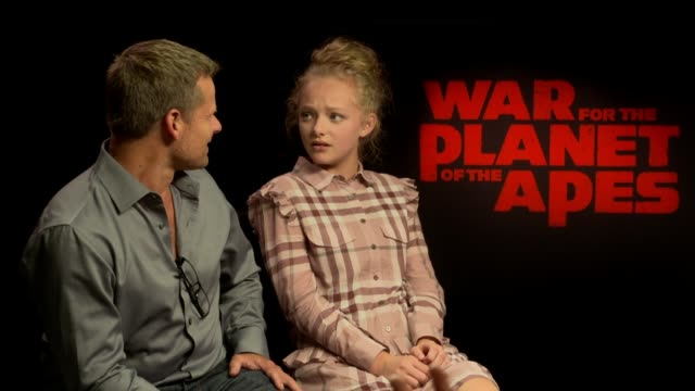 'War for the Planet Of The Apes' junket interviews Steve Zahn and Amiah Miller interviews SOT On being fans of the franchise and how daunting it was...