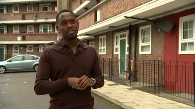 'Yardie' Aml Ameen stars in film that marks Idris Elba's directorial debut ENGLAND London EXT Aml Ameen interview SOT Low angle view of road onto...