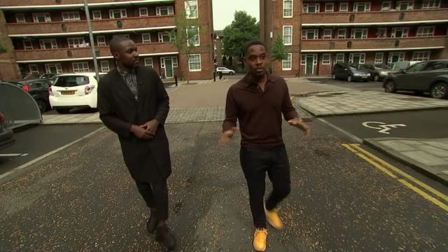 'Yardie' Aml Ameen stars in film that marks Idris Elba's directorial debut ENGLAND London EXT Reporter along with Aml Ameen as walking through...