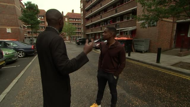 'Yardie' Aml Ameen stars in film that marks Idris Elba's directorial debut ENGLAND London EXT Aml Ameen interview SOT Reporter and Ameen Blocks of...