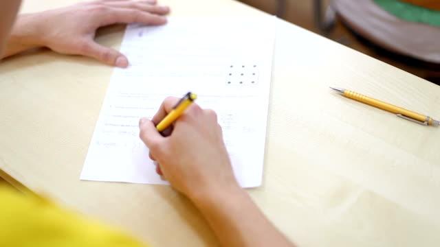 vídeos y material grabado en eventos de stock de el examen final - examen