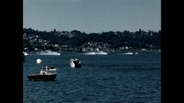 vídeos y material grabado en eventos de stock de final leg of seafair trophy race world championship on the shores of lake washington - hidroplano