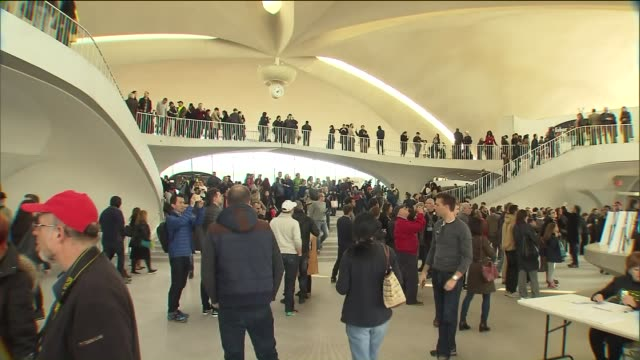 final look at twa flight center at jfk airport set to close - kennedy airport stock videos & royalty-free footage