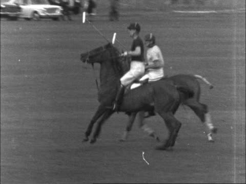 final of the queen elizabeth cup england windsor queen shaked hands queen and queen mother along duke of glooucester duke of edinburgh playing polo... - queen dowager stock videos and b-roll footage