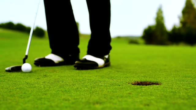 final shot - golf swing stock videos & royalty-free footage