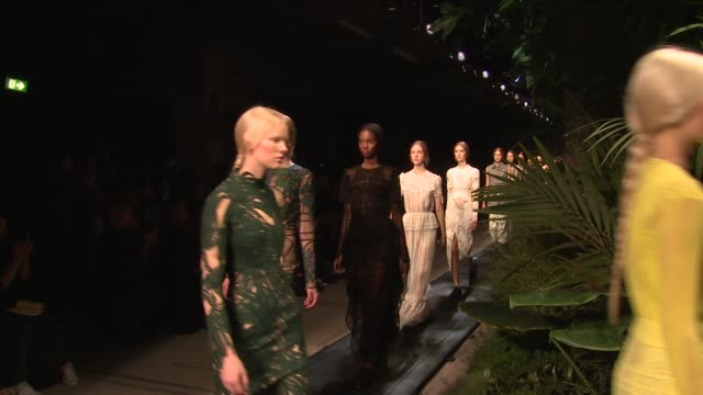 Finale at Erdem SS15 London Fashion Week on 15th September 2014 in London England