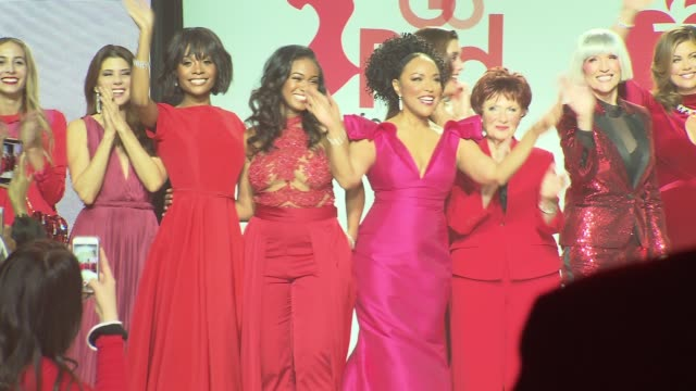finale at the american heart association's go red for women red dress collection 2018 presented by macy's at hammerstein ballroom on february 8, 2018... - ginger zee stock videos & royalty-free footage