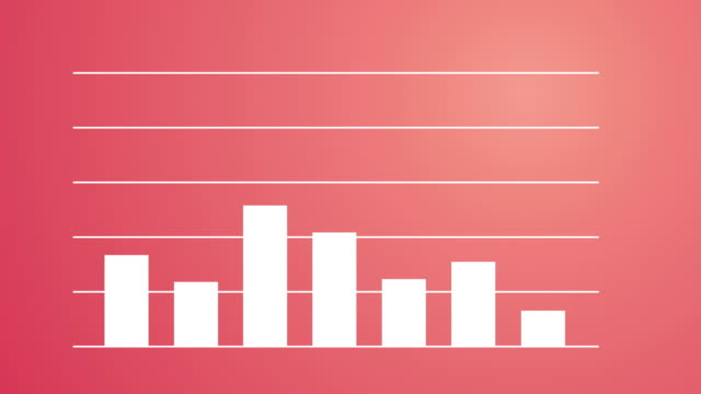 finance & business bar graph - 4k - bar graph stock videos & royalty-free footage