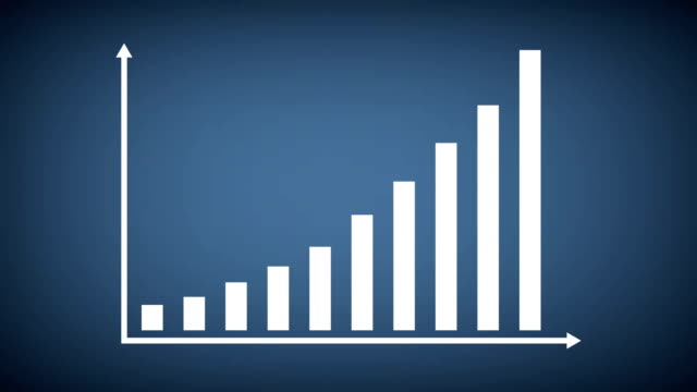 finance or business bar graph or chart concept. - bar graph stock videos & royalty-free footage