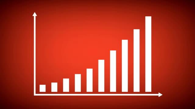 vídeos de stock e filmes b-roll de finance or business bar graph or chart concept. - design plano