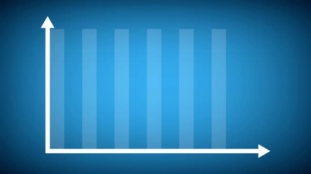 finance or business growth infographic bar graph or chart concept. - graph stock videos & royalty-free footage