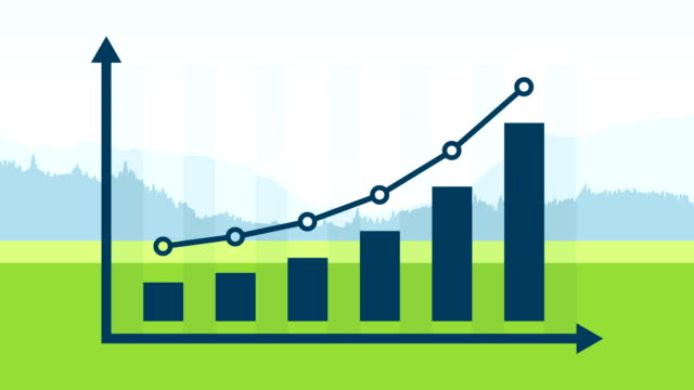 finance or business growth infographic bar graph or chart concept. - bar graph stock videos & royalty-free footage