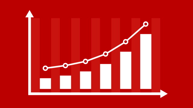 finance or business growth infographic bar graph or chart concept. - bar graph stock videos and b-roll footage