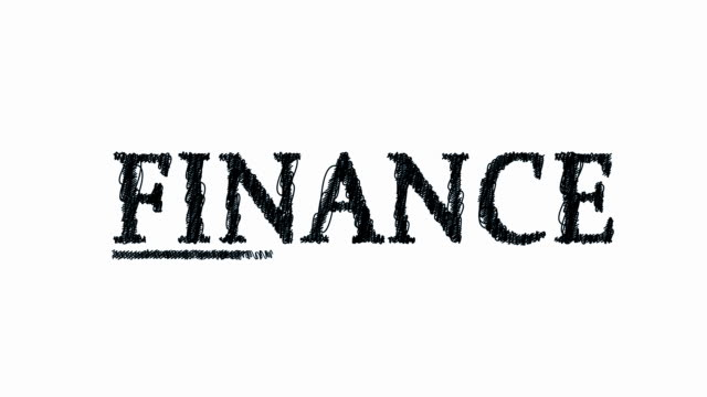finance the word scribbles on in ballpoint pen - ballpoint pen stock videos & royalty-free footage