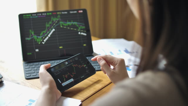 Financial analysts see charts and graphs