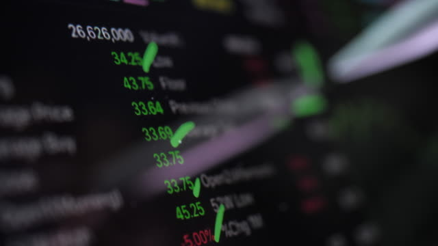 financial analysts see stock market data on digital tablet - graph stock videos & royalty-free footage