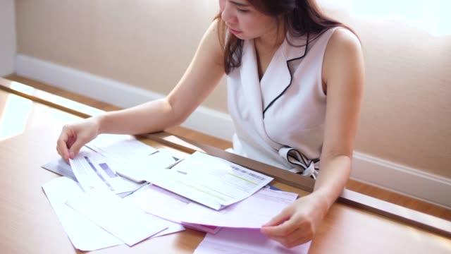 financial bill - receipt stock videos & royalty-free footage