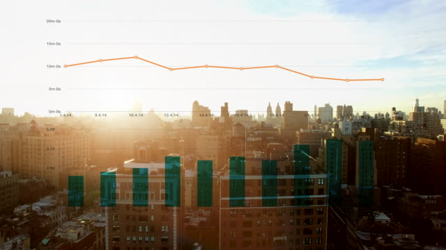 financial business charts graphics background. investment data statistic information