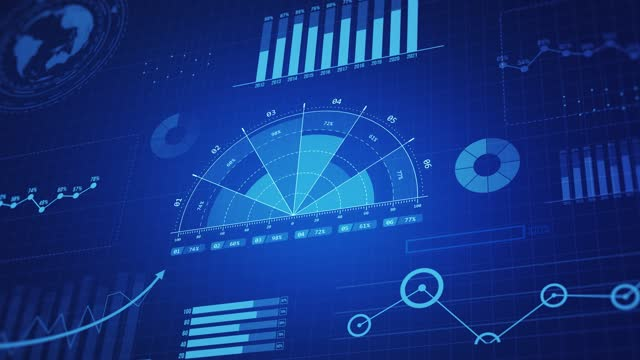 vídeos de stock e filmes b-roll de financial business charts, graphs and diagrams, 4k backgrounds. - computer graphic