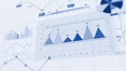 4K Financial Business Charts, Graphs And Diagrams.