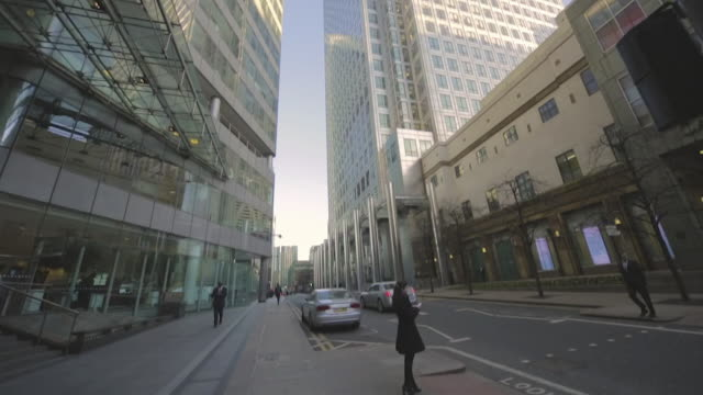 Financial centre in London's Docklands.
