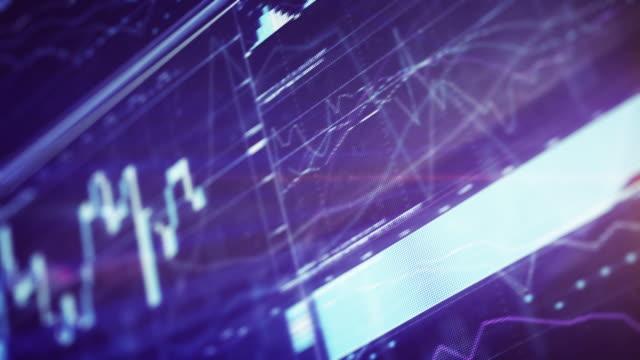 vídeos de stock, filmes e b-roll de gráfico financeiro, com display digital - 2015