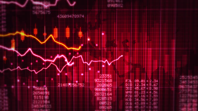 financial chart. red and white. - trading screen stock videos & royalty-free footage