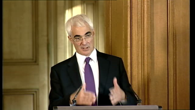 government to buy stake in three uk banks gordon brown alistair darling press conference question sot the statement this morning said that you are... - things that go together stock videos & royalty-free footage