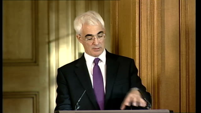 government to buy stake in three UK banks Gordon Brown Alistair Darling press conference Darling response SOT I think there is a distinction to be...