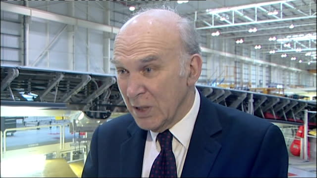 vince cable interview; england: london int vince cable mp interview sot - vince cable stock videos & royalty-free footage