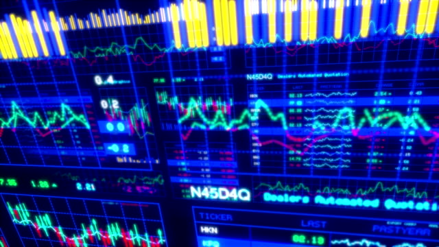 financial data and charts xii - line graph stock videos & royalty-free footage