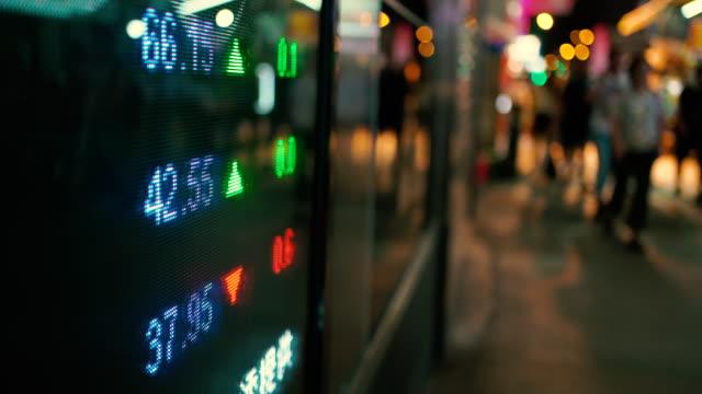 vídeos y material grabado en eventos de stock de visualización de datos financieros en pantalla - tipo de cambio