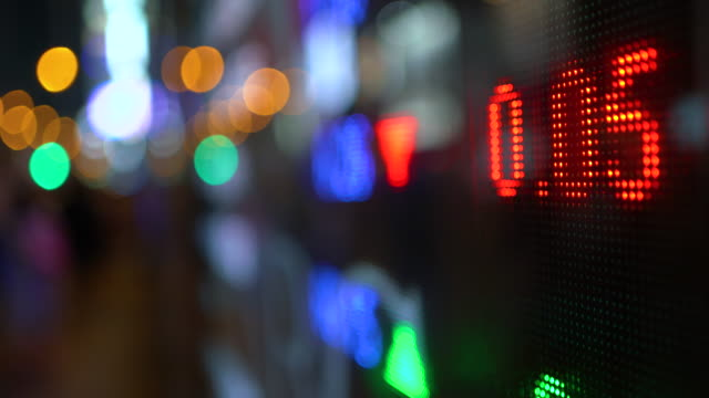 financial data displaying on screen - global finance stock videos & royalty-free footage
