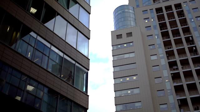金融地区では、現代的な都市 - パン効果点の映像素材/bロール