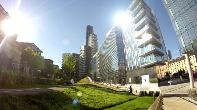 Quartiere finanziario Time lapse