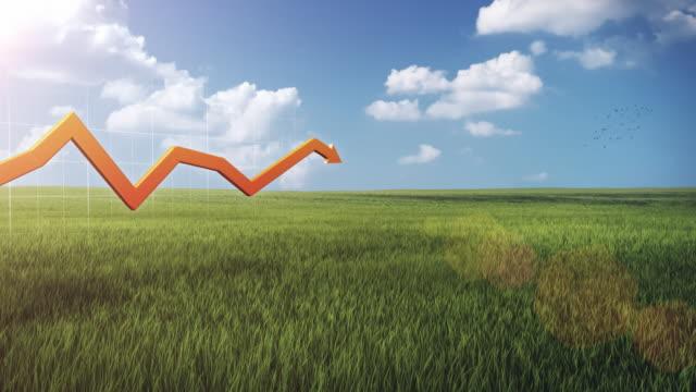 3D financial graph, outdoor