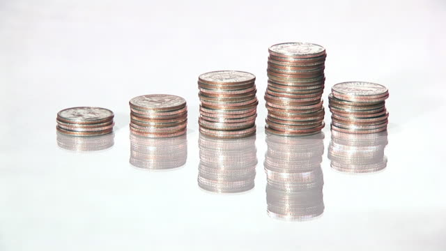 financial growth - amerikanska mynt bildbanksvideor och videomaterial från bakom kulisserna