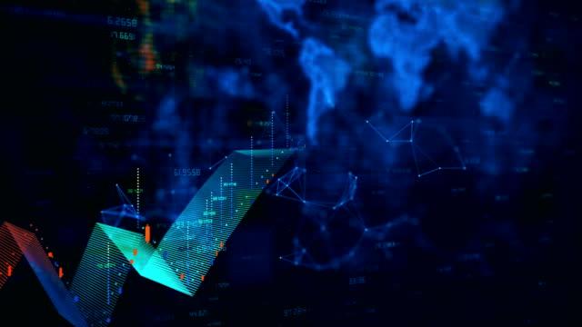 vidéos et rushes de croissance financière - diagramme en bâtons