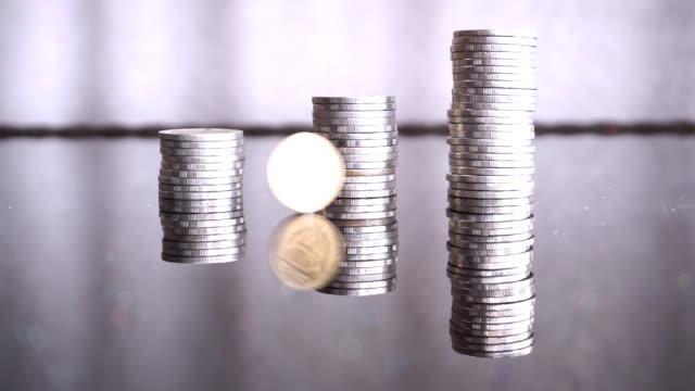 Financial Investment Money Risk Coin Flip Concept