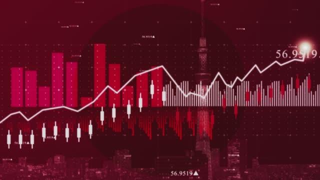 stockvideo's en b-roll-footage met financiële van japan grafiek achtergrond beelden voorraad - rapport